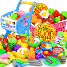 12-23PCS Children Kitchen Pretend Play Toys Cutting Fruit Vegetable Food Miniature Play Do House Education Toy Gift for Girl Kid(China)
