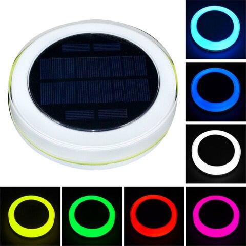 solar led piscina luz rgb controle remoto 16 cores flutuante paisagem luzes da noite lagoa