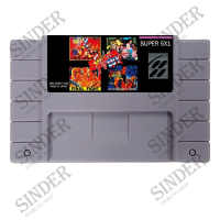 Super Game 5 In 1 Final Fight Collection 16 Bit Gray Game Card For USA NTSC Game Player