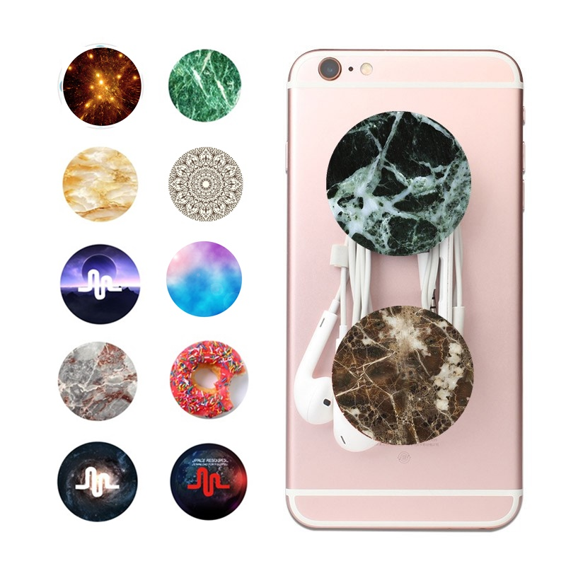 Dog Cat Pony Marble Glitter POP Phone Stand Flower Universe for iPhone Samsung Xiaomi Redmi Huawei Mobile Holder Car Desk Use
