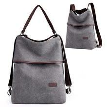 2c8012d3c77b Vintage Canvas Convertible Backpack Purse Women 15.6 Inch Laptop Backpack  Large Capacity Shoulder Bag Crossboday Bag