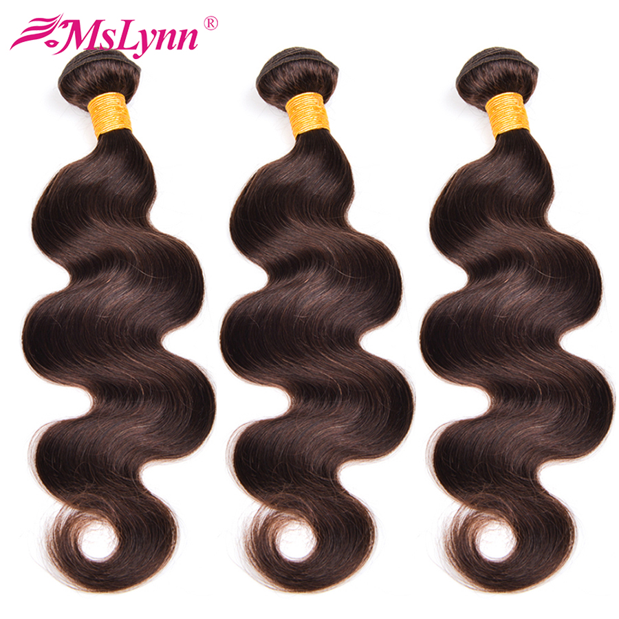Body Wave Bundles Brazilian Hair Weave Bundles Human Hair Bundles Dark Brown 2 Non Remy Hair