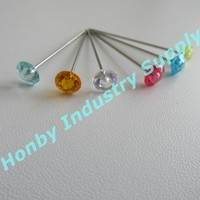 Free shipping 1000pcs Multi Color Pearl Head Pins for Craft,Dressmaking,Sewing & Florists