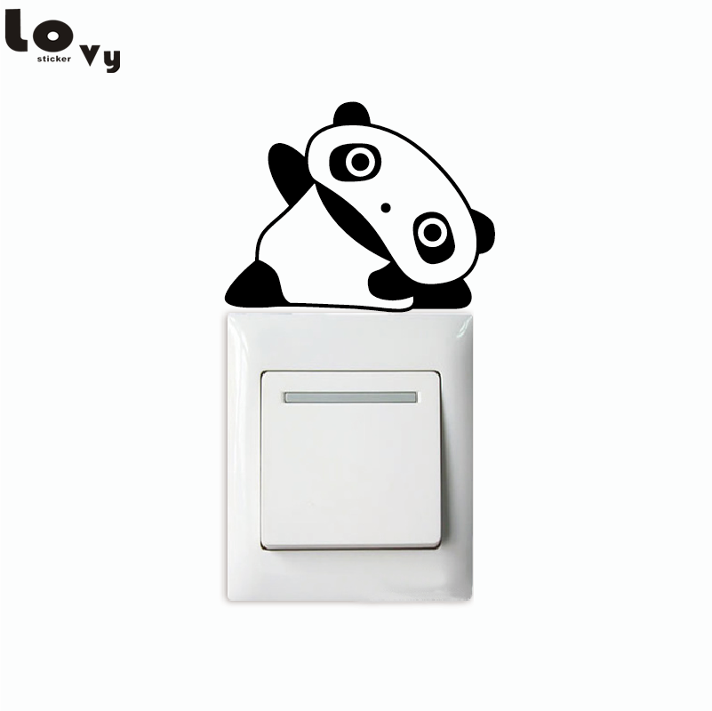Panda FULLHOME wall stickers decorative home decor switch film cartoon switch stickers Fall Winter Specials