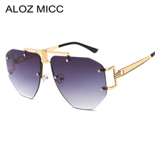 ALOZ MICC Oversized Frameless Sunglasses Ladies Women Luxury Metal Punk Sun Glasses Men Brand Design UV400 Goggles Oculos Q67