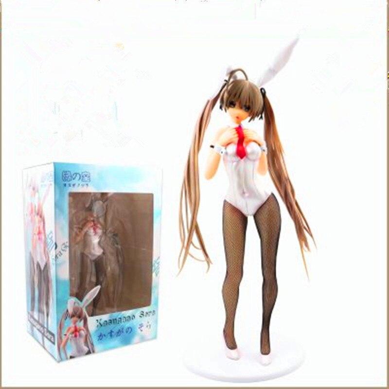 41 CM jeu dans la Solitude Anime Figure Kasugano Sora Cos lapin Action Figure poupées modèle Sexy debout Ver avec boîte F171
