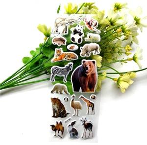 Image 2 - 10枚3D動物ステッカーのおもちゃ子供のためのスクラップブック電話ラップトップギフト動物虎ライオン恐竜ステッカーyyy gyh