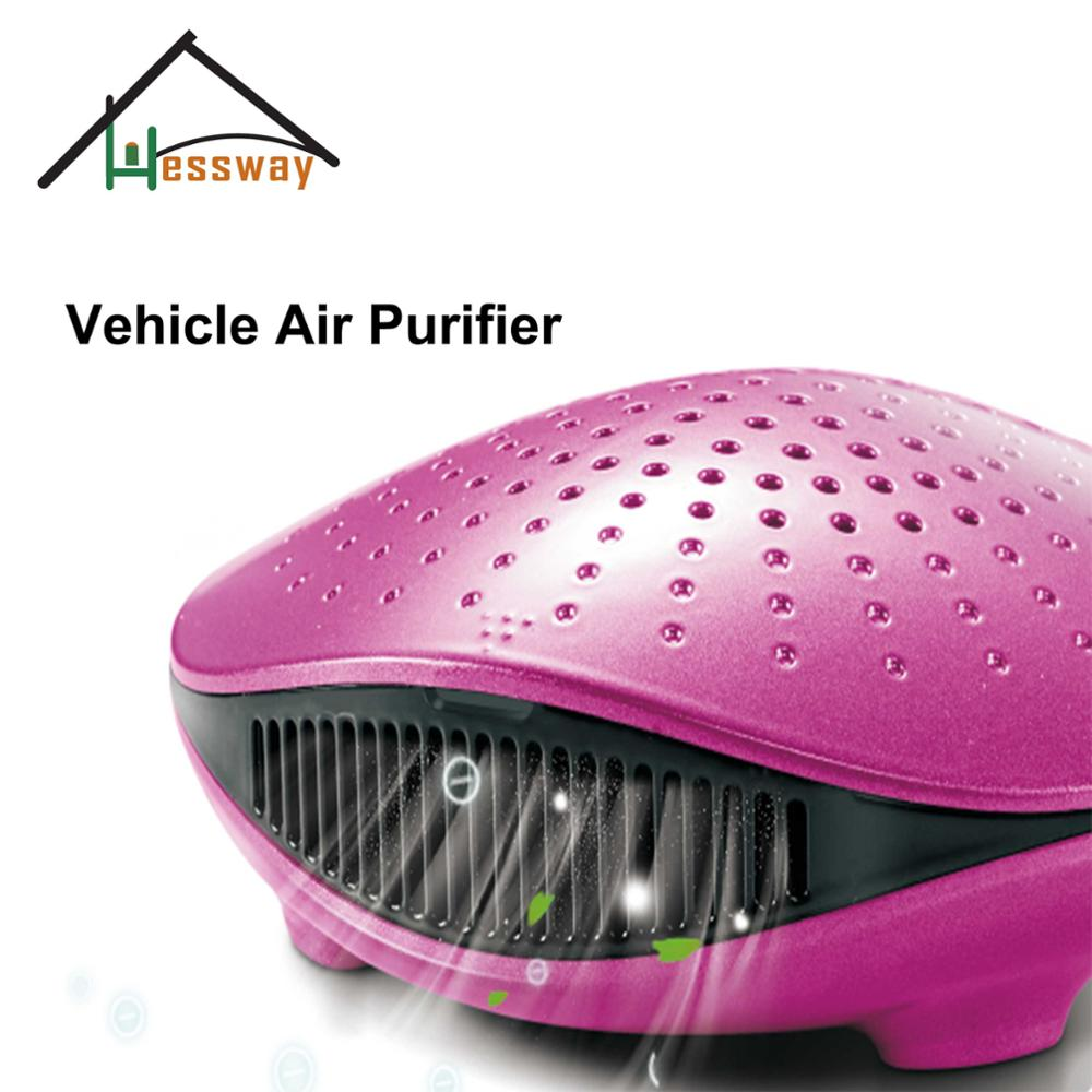 5V Vehicle Air Purifier ionizer vanilla air freshener car for hepa filter car outlet perfume air freshener with thermometer lime