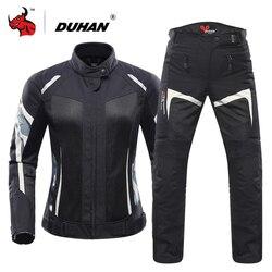 8df1ee08cca3e DUHAN Women Motorcycle Jacket Breathable Moto Jacket Protective Gear  Motorcycle Suit Motorbike Clothing Set Moto Black