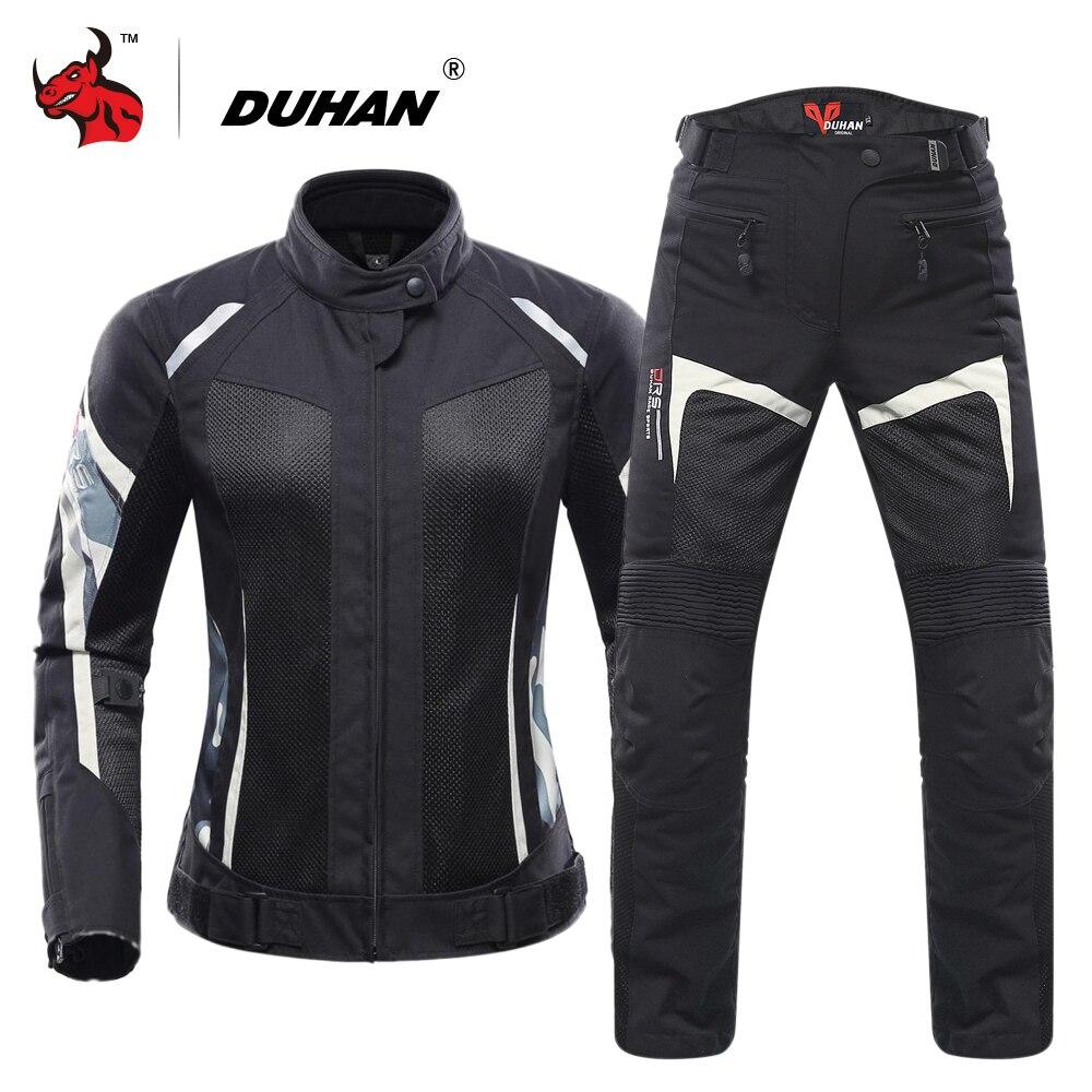 Duhan Women Motorcycle Jacket Summer Breathable Mesh Moto Jacket