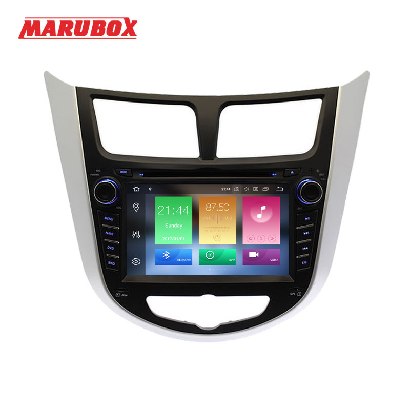 MARUBOX 2 Din Android 8.0 4g RAM 7 Pour HYUNDAI Solaris 2012-2016 Verna Accent Radio GPS navi DVD De Voiture Lecteur Multimédia 7A300PX5
