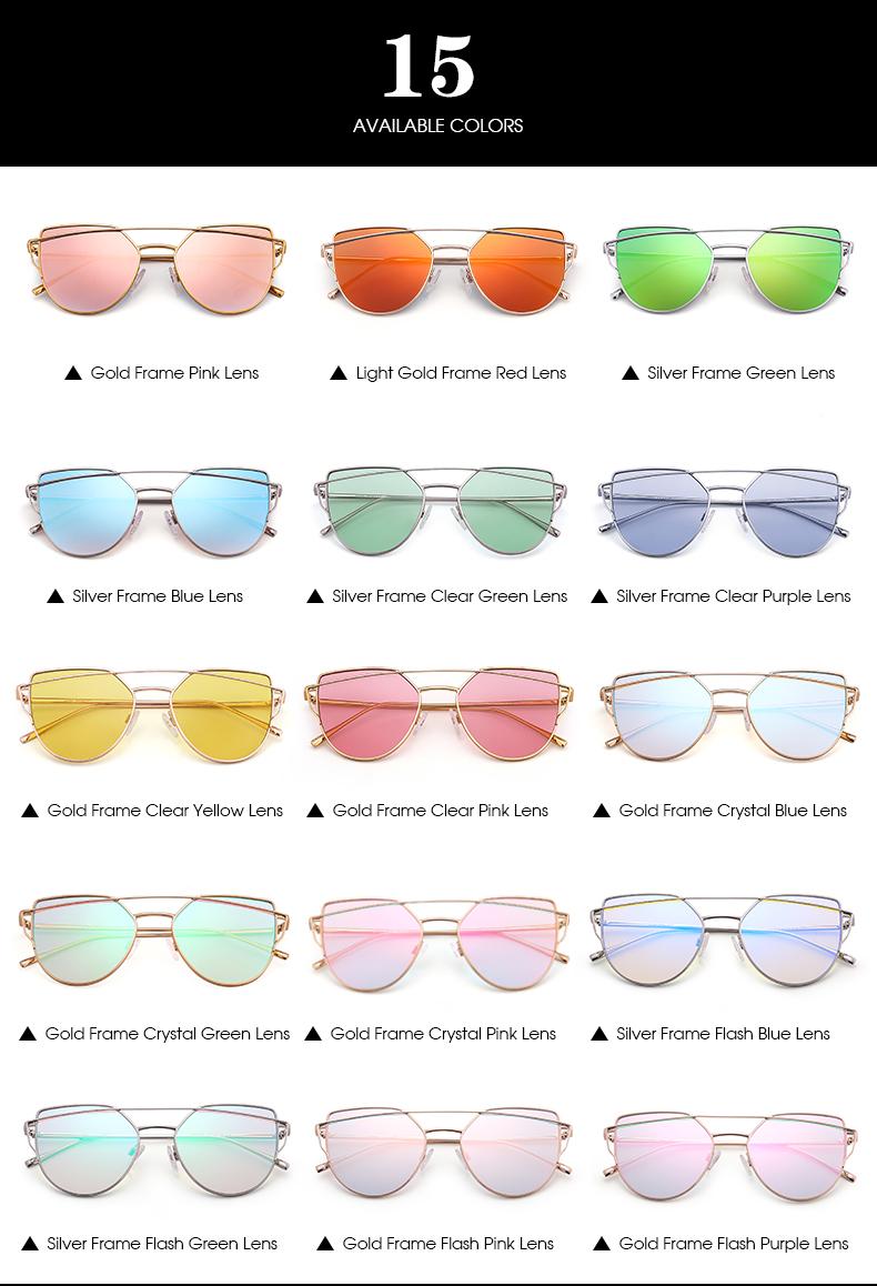 Women Men Cheap Retro Cat Eyes Sun glasses