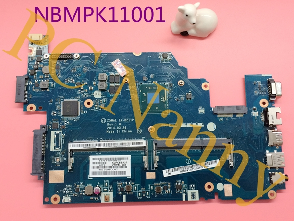 NBMPK11001 Z5WAL LA-B211P For Acer Aspire E5-511 E5-511-P8E8 Motherboard System Board 15.6 Pentium N3530 2.16 GHz HD Graphics