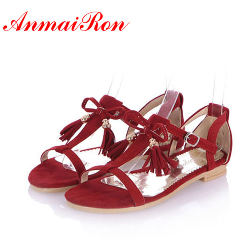 ANMAIRON Stylish Women Sandals Flats for Women Summer Platform Sandals Sweet Ladies Fashion Gladiator Sandals Women Shoes anmairon shallow leisure striped sandals women flats shoes new big size34 43 pu free shipping fashion hot sale platform sandals