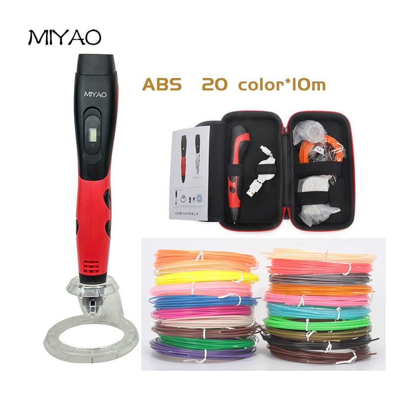 MIYAO 1nd 3D Scribble Pen ABS 20 Colors* 10m Allows Kids To Bring Any And All Ideas To Life In 3D Non-Toxic Plastic