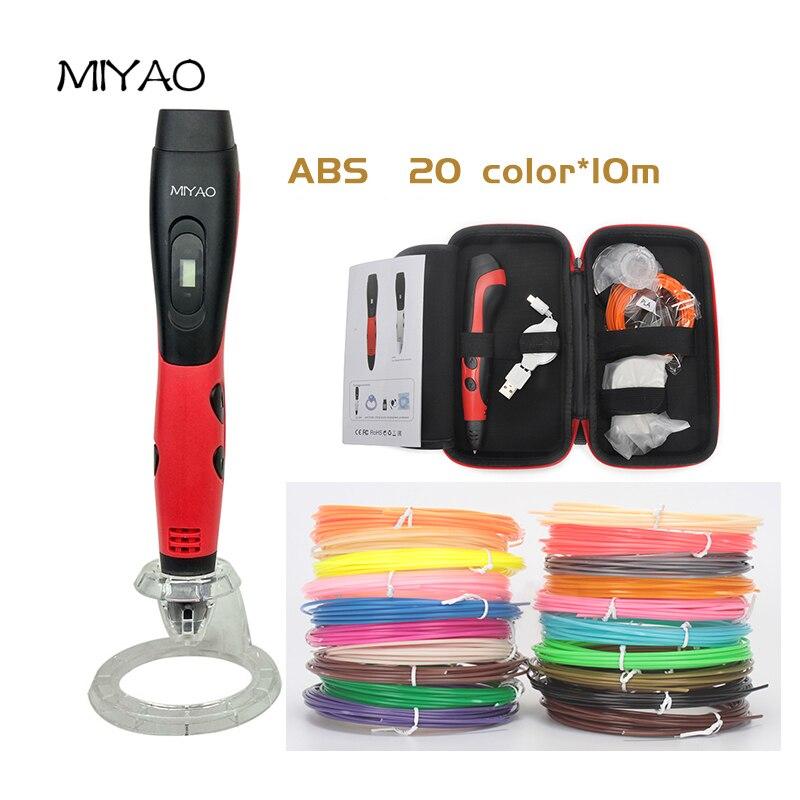 MIYAO 1nd 3D garabato ABS 20 colores * 10 M permite a los niños traer cualquier Ideas para vida en 3D plástico no tóxico