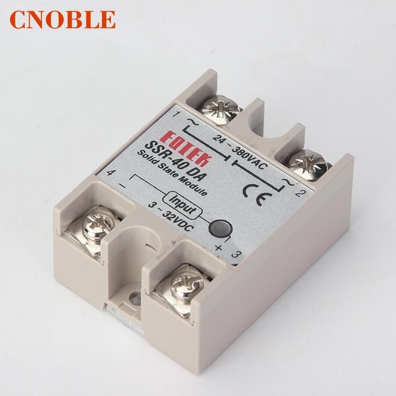 CNOBLE solid state relay SSR-60DA SSR-80DA SSR-100DA 60A 80A 100A actually 3-32V DC TO 24-380V AC SSR 60DA 80DA 100DA top brand brand new dc to ac ssr 100da solid state relay module 100a 3 32vdc 24 380vac dc ac solid state relay