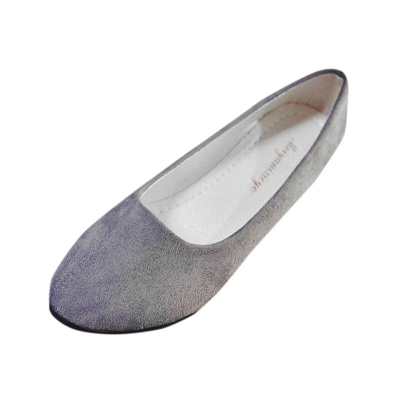SAGACE Women Ladies Slip On Flat Shoes Sandals Casual Ballerina Shoes 175-240g