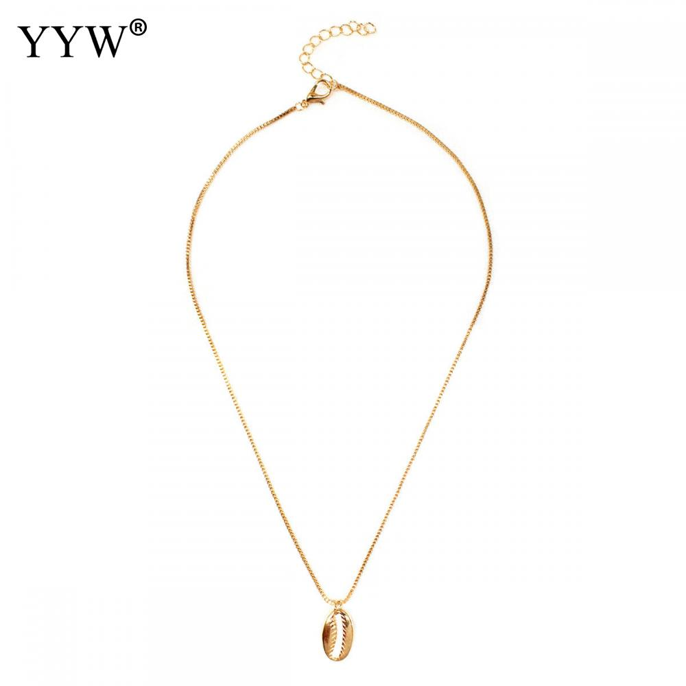 YYW Bohemian Cowrie Conch Shell Pendant Necklace For Women Fashion Ocean Sea Beach Necklaces Boho Jewelry Wholesale