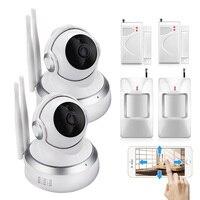 2PCS Wireless Sensors 720P Cloud Storage IP Camera Surveillance Night Security CCTV Camera Indoor Baby Monitor