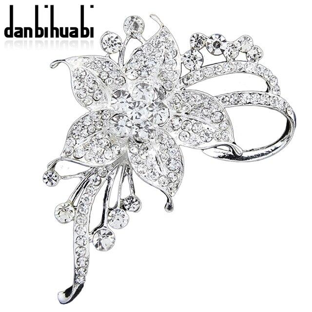 Danbihuabi nueva moda Pasadores Broches joyería flores blancas ...