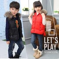 Warm Children vests waistcoats Hooded girls/boy Outerwear&Coats vest Brand Love design Kids jackets winter baby Outerwear&Coats