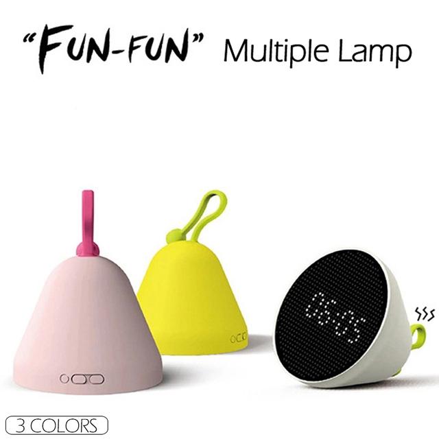 HY FUN-FUN LED Night Light Relógio Geléia Multifuncional Toque Agite Alarme Data Tempo de Exibição De Temperatura E Umidade do Relógio Da Lâmpada