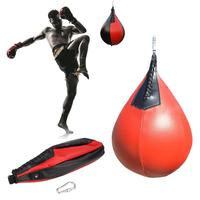 Boxing Pear PU Swivel Punch Bag Punching Exercise Speedball Speed Fitness Ball