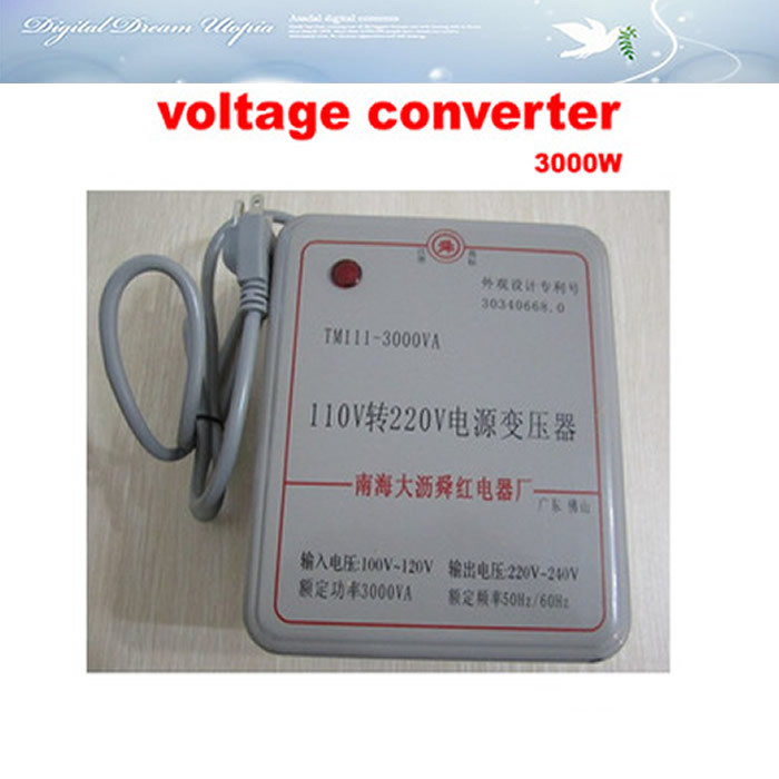 3000W transformer voltage converter 110V to 220V (or 220V to 110V)voltage converter transformer 1pcs lot sh b17 50w 220v to 110v 110v to 220v