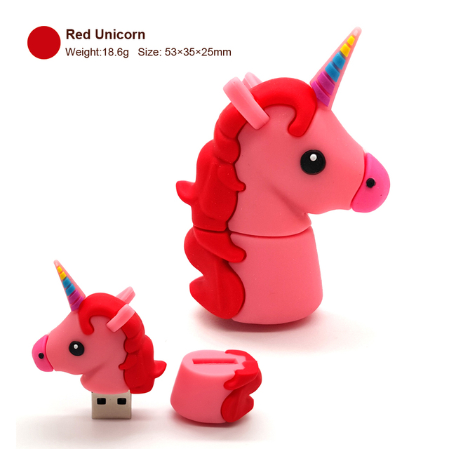 Cartoon Unicorn USB Flash Drives With OTG Adapter For Phone Pen Drive 4GB 8GB 16GB 32GB 64GB Memory Stick Pendrives Gift 3