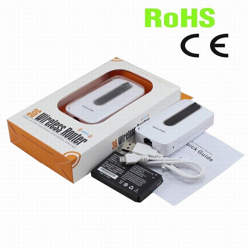 Livraison gratuite! 3000 mAh batterie externe Portable WIFI Hotspot 3G MIFI routeur avec fente pour carte sim et port Ethernet RJ45