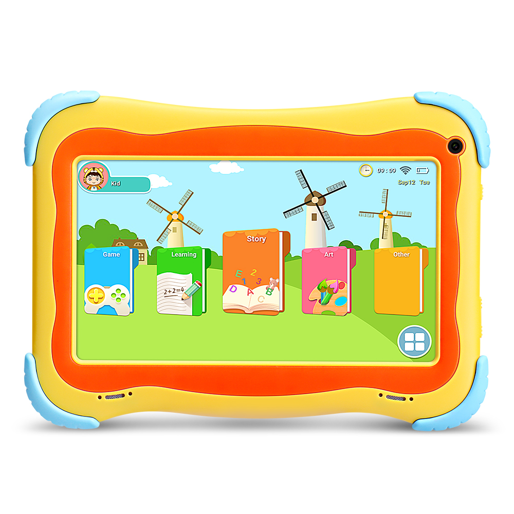 Hot Sale!! Yuntab 7 Inch Q91 Kids Tablet PC Quad Core Android 4.4 Tablet 1GB+16GB Dual Camera 7 8 10