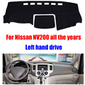 Car dashboard cover mat for Nissan NV200 all the years Left hand drive dashmat pad dash covers auto dashboard accessories