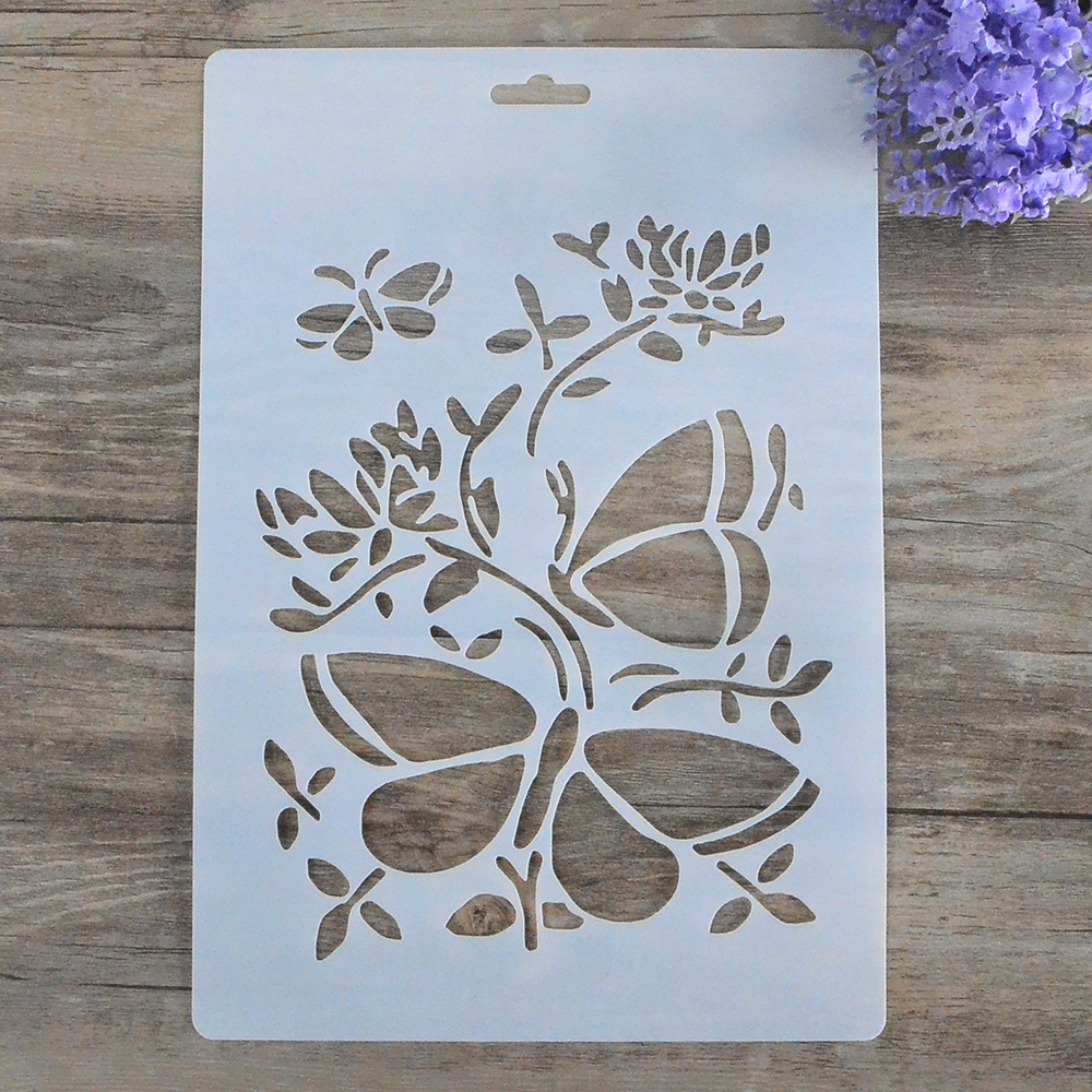 Diy Craft Butterfly Layering Stencils