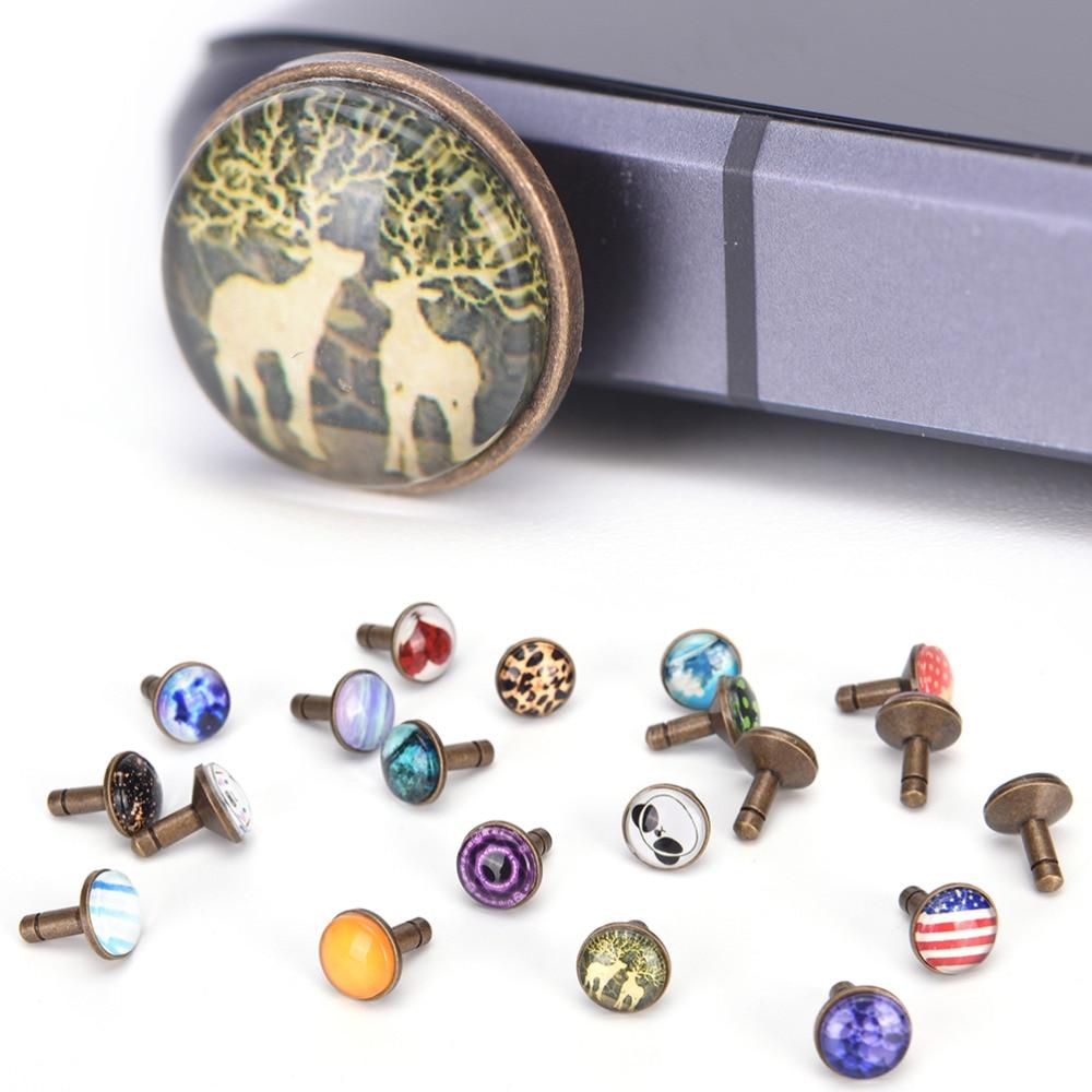 Alloy Mobile phone 3.5 Dust Plug Set Earphone Jack Plug Anti Phone Accessories