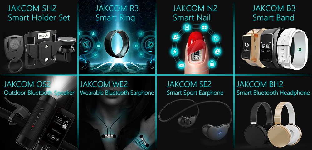 Jakcom WE2 Wearable Bluetooth Headphones New Product Of Digital Voice Recorders As Display Telephone Voice Recorders Dyktafon
