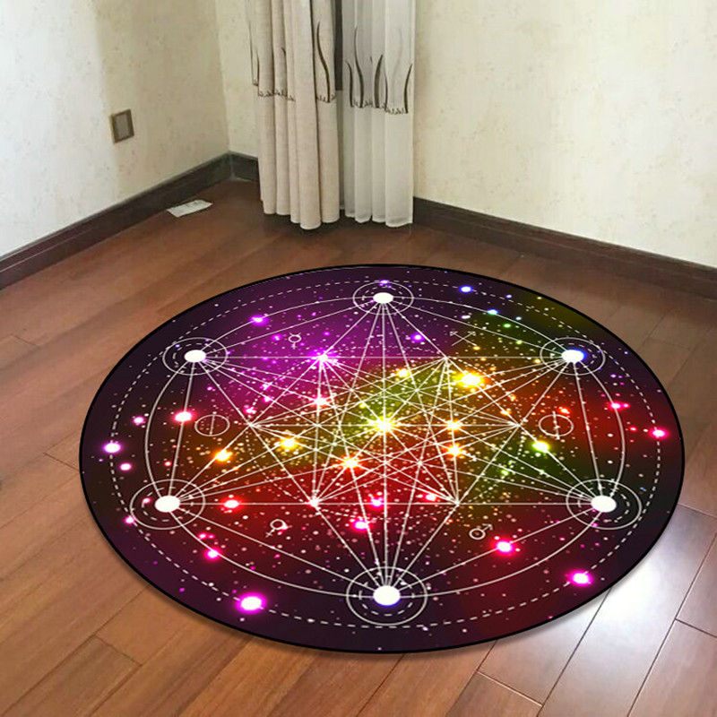 Dream Colorful Geometric Round Carpets For Living Room Bedroom Area Rug And Carpet Computer Chair Floor Mat Kids Room Home DecorDream Colorful Geometric Round Carpets For Living Room Bedroom Area Rug And Carpet Computer Chair Floor Mat Kids Room Home Decor