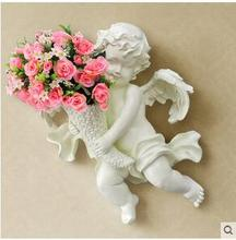 European household wall wall act the role ofing is hanged adorn Lovely angel sitting room metope adornment wall hanging vase c hanged man the exp