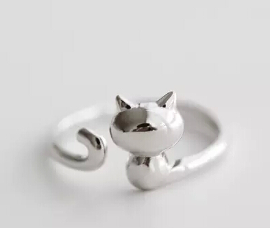 a778fc083 wholesale adjustable new fashion cat Ring free size cartoon animal hello  kitty Ring jewelry for pet lovers 12pcs/lot