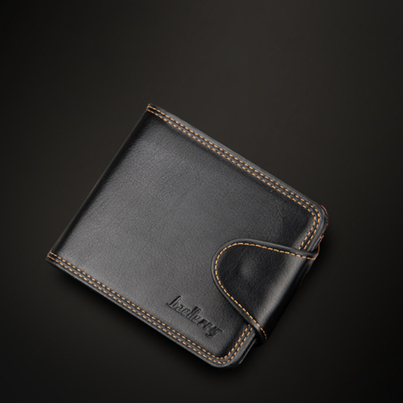 Business Wallets Casual PU Leather Money Bag New Fashion Men's Wallet Short Hasp Coin Packet Card Purse Man Clutch ID Holder high quality genuine leather business men s waist bag fashion money bag wallet cross money packet soft solid zipper