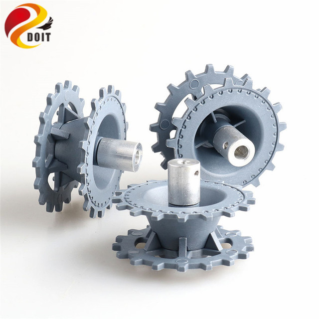 New Plastic Driving Wheel with Coupling Inner Size 4mm, 5mm, 6mm for Tank Chassis Crawler DOIT