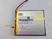 10 Pcs 3 7V 3000mAh 4070100 Polymer Lithium Li Po Rechargeable Battery For MP5 GPS PSP