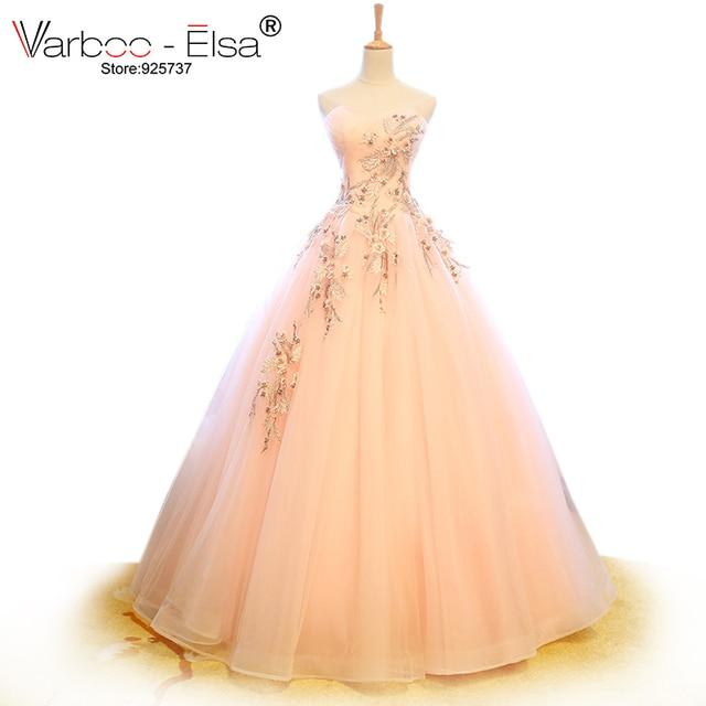 VARBOO_ELSA Süße Rosa Tüll Brautkleid 2018 Nach Maß Applique ...