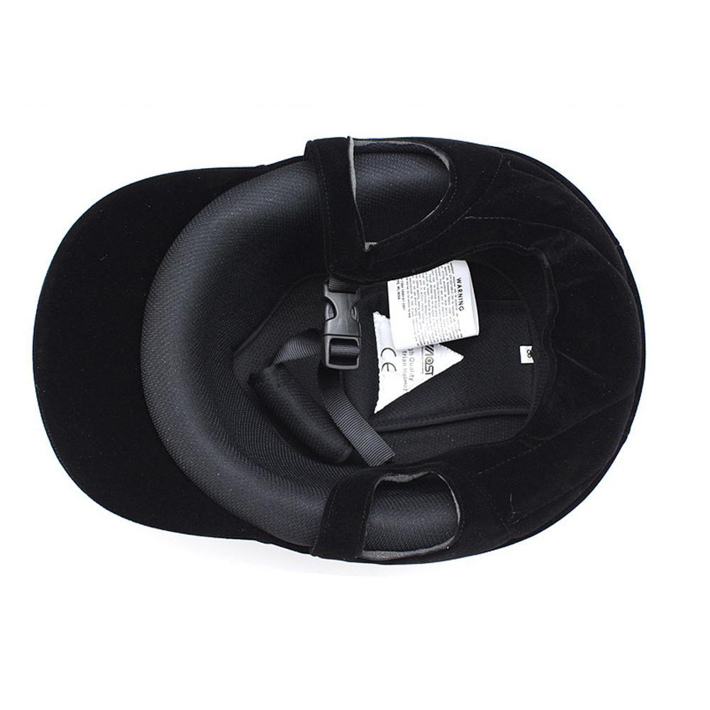 Unisex equitação capacete equestre equipamento ajustável 54
