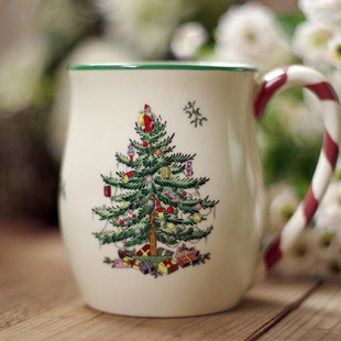 Christmas Tree Coffee Mug With Candy Cane Handle Milk White Hot Chocolate Cup Free Shipping In Mugs From Home Garden On Aliexpress Alibaba Group