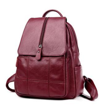 Amasie Новое поступление кожаный рюкзак сумка из натуральной кожи коровы женские двойной плечевой вино сумка для дам роскошные EGT0363