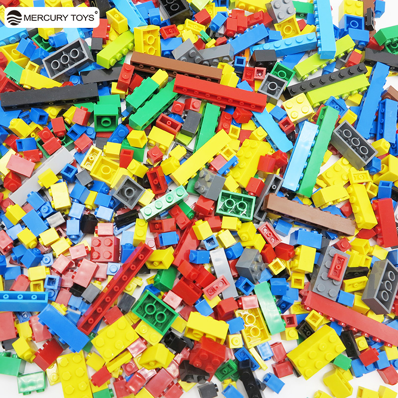 500 pcs 1000 Pieces Building Block DIY Kids Creative Bricks Educational Toys for Children Compatible with major brand gift 1000 pcs diy creative brick toys for child educational building block sets bulk bricks compatible with major brand blocks