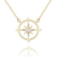 2019 Hot sale jewelry Europe and America 925 sterling silver necklace compass zircon female