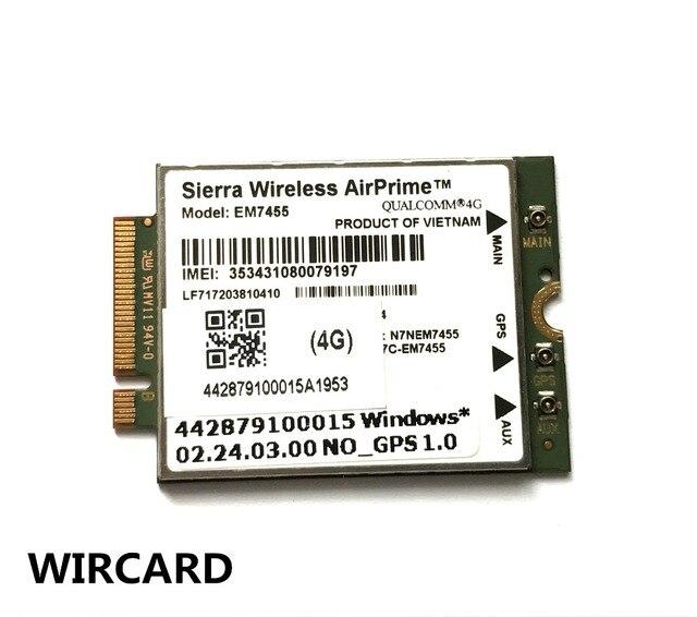 EM7455 FDD/TDD LTE Cat6 4G MODULE 4G carte pour ordinateur portable 4