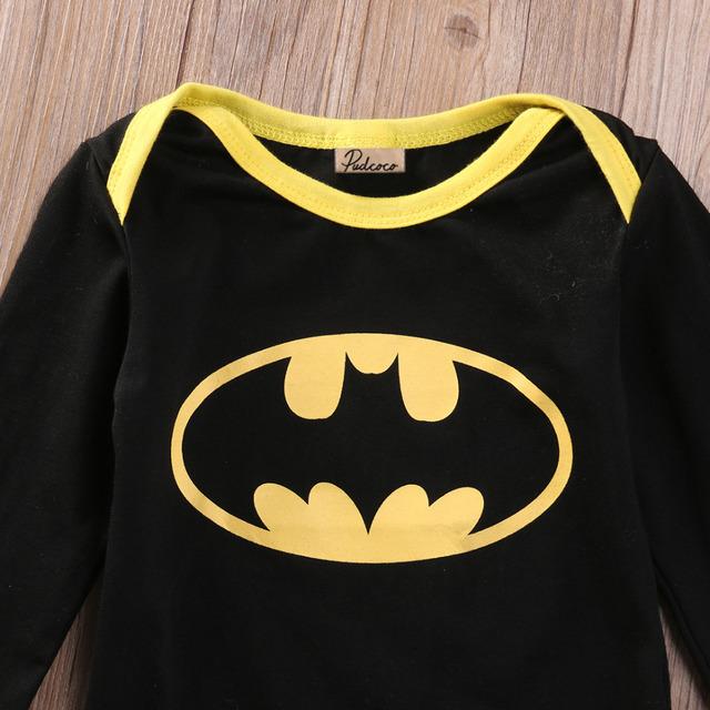 Cool Batman Newborn Baby Romper+Shoes+Hat 3pcs Outfits